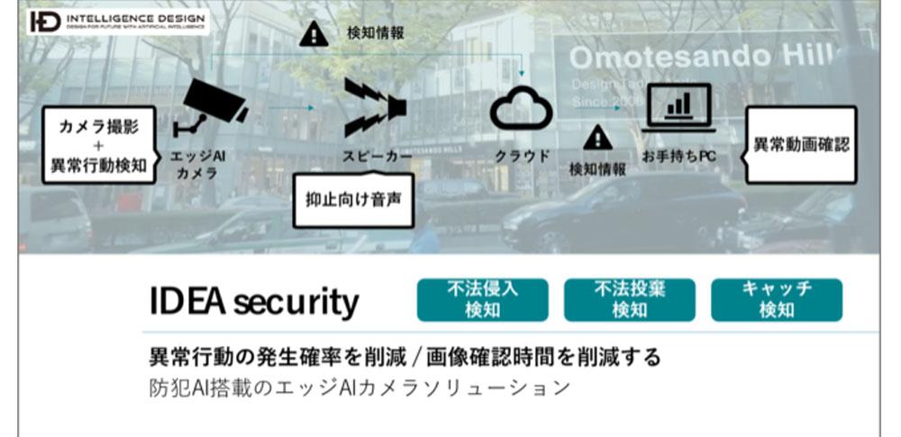 リアルタイム検出に警告発話機能で不法投棄を防止|Intelligence Design株式会社「IDEA security」