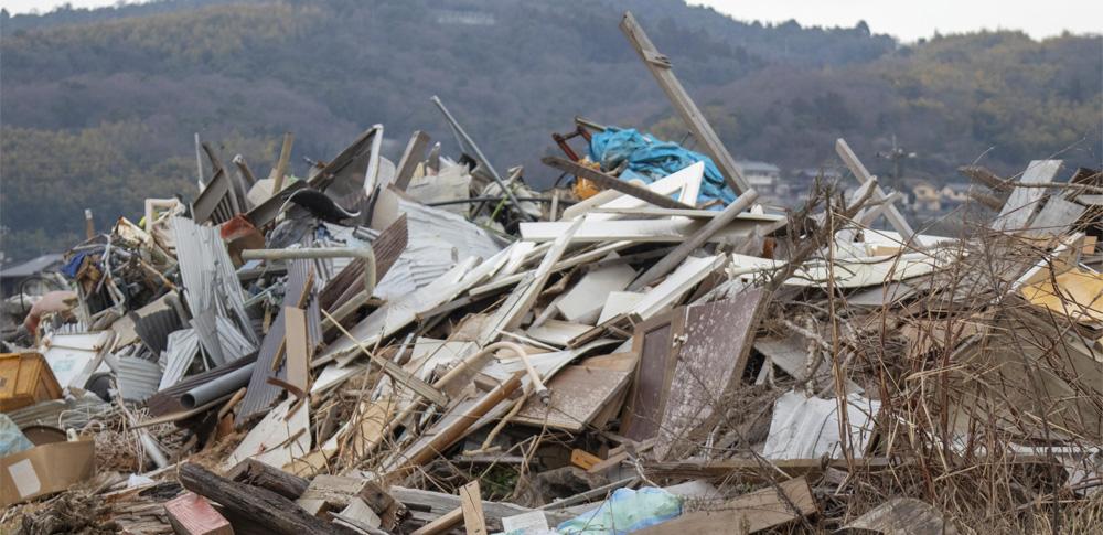 岡山県最大級、廃材150トンを不法投棄した疑いで役員ら3人逮捕
