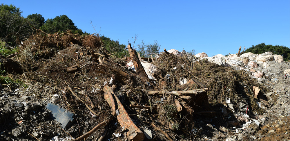 熱海市土石流地点から100mの距離に400トンあまりの解体廃棄物